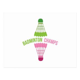 Badminton Champs Postcard