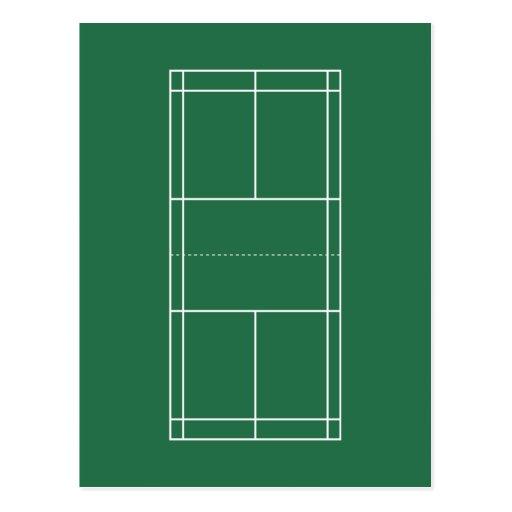 Blank badminton court diagram