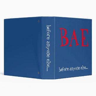 BAE (before anyone else) Binder