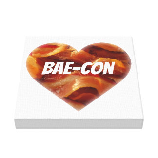 BAE-CON - For Bacon Lovers Everywhere Canvas Print