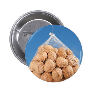 Bag of nuts 6 cm round badge
