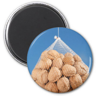 Bag of nuts 6 cm round magnet