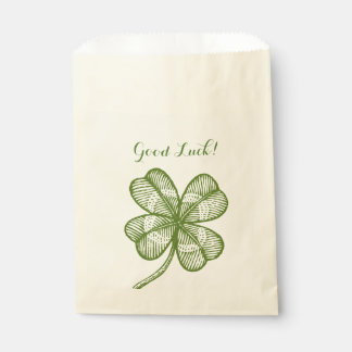 Bag with lucky clover. Good luck! Favour Bags
