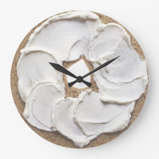 Bagel and Cream Cheese Novelty Wall Clocks
