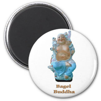 Bagel Buddha 6 Cm Round Magnet