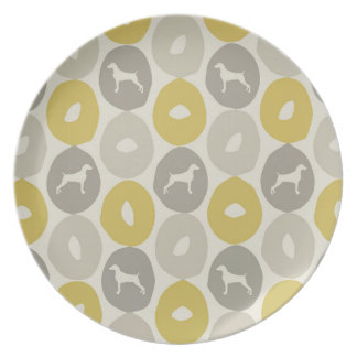 BAGELS AND WEIMARANERS MELAMINE PLATE