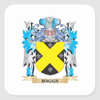 Baggs Coat of Arms Square Sticker