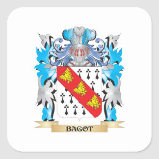 Bagot Coat of Arms Square Stickers