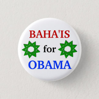 Baha'is for Obama 2012 button