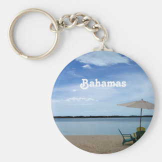 Bahama Beach Basic Round Button Key Ring
