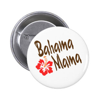 Bahama Mama design with Hibisucus flower 6 Cm Round Badge