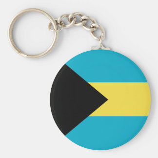 Bahamas Basic Round Button Key Ring
