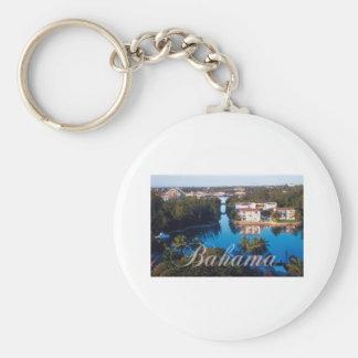 Bahamas Basic Round Button Key Ring