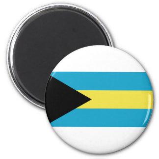 Bahamas flag 6 cm round magnet