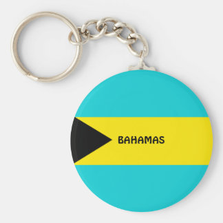 Bahamas flag basic round button key ring