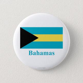 Bahamas Flag with Name 6 Cm Round Badge