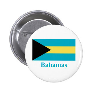 Bahamas Flag with Name 6 Cm Round Badge
