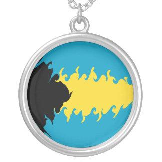 Bahamas Gnarly Flag Necklace