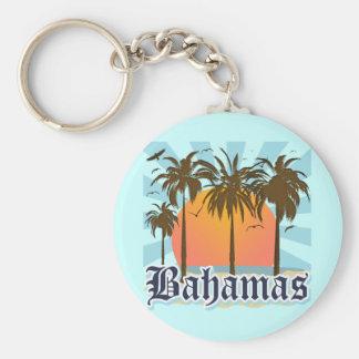 Bahamas Islands Beaches Basic Round Button Key Ring