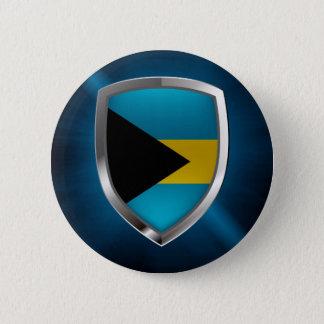 Bahamas Mettalic Emblem 6 Cm Round Badge