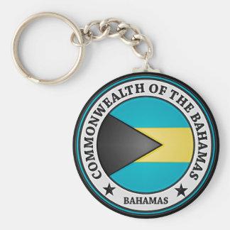 Bahamas Round Emblem Basic Round Button Key Ring