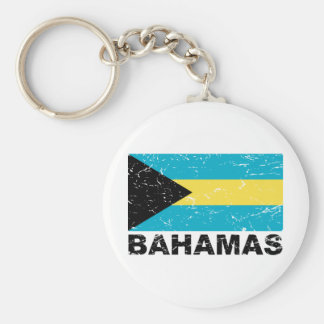 Bahamas Vintage Flag Basic Round Button Key Ring