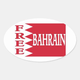 Bahrain - Free Bahrain Oval Stickers