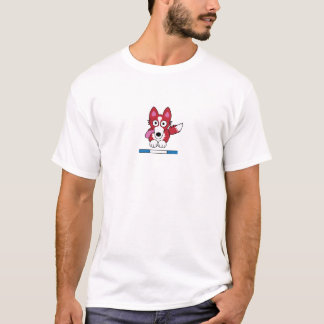 Baisic Light T-Shirt - Red & White Collie Jumping