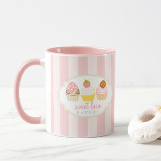 Bakery Cafe Retro Sweet Cupcakes Cute Mug