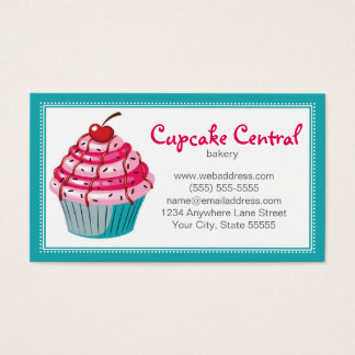 Fun Pastry Chef Business Cards And Fun Pastry Chef Business - Cupcake business card template