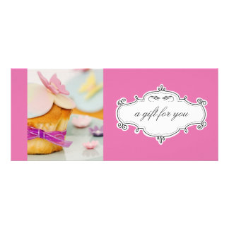 Bakery or Cupcake Business Gift Certificates Customised Rack Card