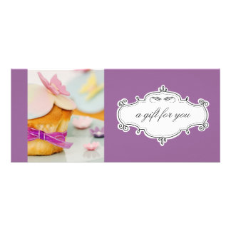 Bakery or Cupcake Business Gift Certificates Full Colour Rack Card