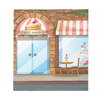 Bakery shop notepad