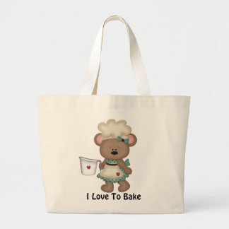 Baking Bear Tote Bag