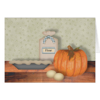 Baking Pumpkin Pie Note Card