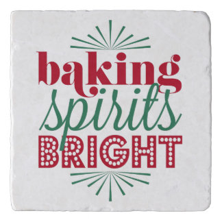 Baking Spirits Bright | Holiday Red & Green Trivet
