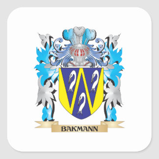 Bakmann Coat of Arms Square Stickers