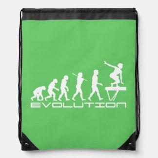 Balance Beam Gymnastics Sports Drawstring Bag