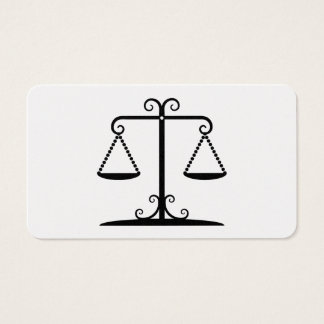 balanced scales business card