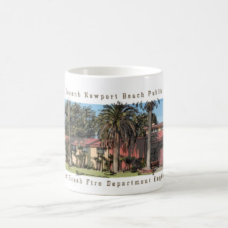 Balboa Branch Newport Beach Public Library & Fire Coffee Mug