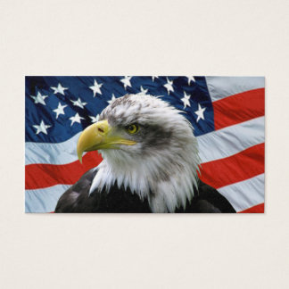 Bald Eagle American Flag Business Card