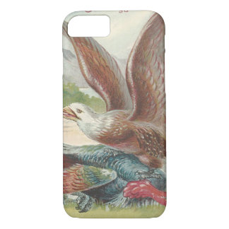 Bald Eagle Catching Thanksgiving Turkey iPhone 8/7 Case
