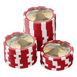 bald eagle liberty bell patriotic vintage art poker chips