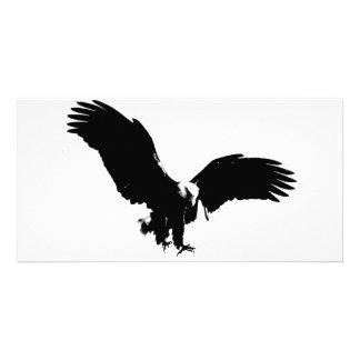 Bald Eagle Silhouette Customized Photo Card