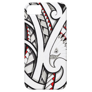 Bald eagle tribal tattoo design in red iPhone 5 cases