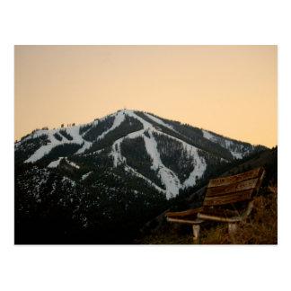 Bald Mountain in Sun Valley Idaho Postcard