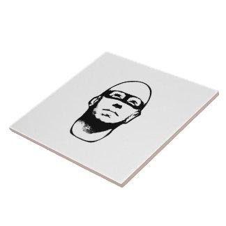 Baldhead Hero Illustration Large Square Tile