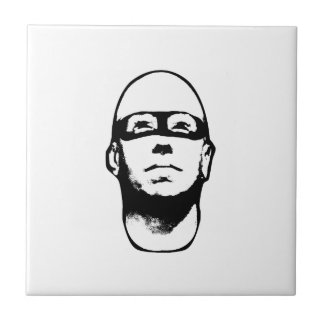 Baldhead Hero Illustration Small Square Tile