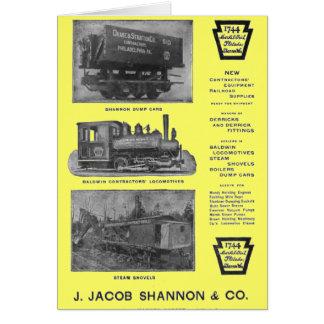 Baldwin Locomotive Works Contractor's Locomotives Note Card