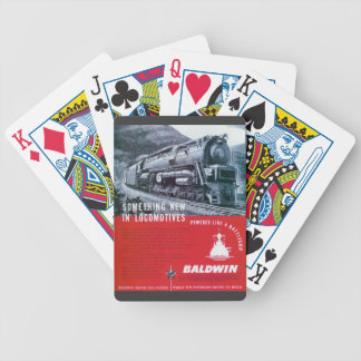 Baldwin Locomotive Works S-2 Steam Turbine Bicycle Playing Cards